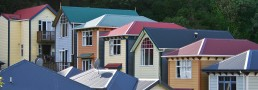 Colourful houses in Wellington